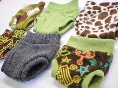 fleece/wool diaper cover