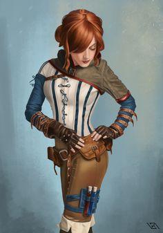 "art-of-cg-girls: "" Triss Merigold by Vadim Zaytsev """