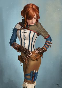 "art-of-cg-girls: "" Triss Merigold by Vadim Zaytsev """