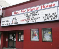Before and after it moved, the Red Vic was the place to go to sit on sticky couches and eat popcorn with bee pollen. Still sad it closed. Those hippies showed good movies.