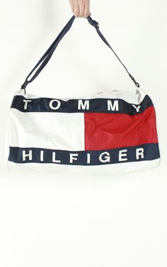2484b362a9 Vintage Tommy Hilfiger Logo Duffle Bag Tommy Hilfiger Outfit