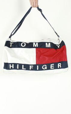 Vintage Tommy Hilfiger Logo Duffle Bag Tommy Hilfiger Outfit, Tommy  Hilfiger Bags, Duffel Bag f2bd628efa
