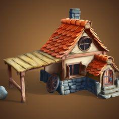 Little House, by Adelin Jercan - https://www.artstation.com/artwork/X4xPY #SubstancePainter #ThisIsSubstance