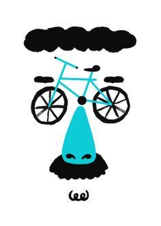 PUSHcycles disguise Bike Poster, Bicycle Art, New Adventures, Illustrators, Pop Art, Recycling, Sculptures, Doodles, Bike Stuff