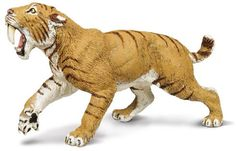 A Wild Safari Dinos Smilodon model available from Everything Dinosaur (from £4.79 plus postage). A hand-painted model of a Sabre-Tooth Cat.