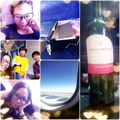 Day 8: 10/05  That's right!!! The bottle of RED WINE was my #breakfast this #MORNING!!!! Yooo!!!! :D Touch down hk :) thank you #Jesus!!!  #trip #travel #beijing #china #hk #hongkong #god #airport #flight #mymom #sister #myfamily #love #goodbye #blogger #kahyinlam