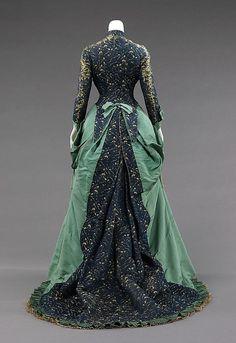Afternoon dress, 1875, Worth, silk