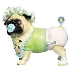 Pug-nacious Figurine Pacifier Pug