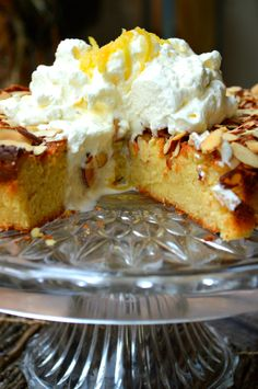 Italian Lemon Ricotta Cake - at ten servings, 4.7 carbs per slice. Add a dollop of stevia sweetened whipped cream, about 6 carbs.