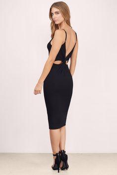 New Arrivals - Dresses, Tobi, Black Oahu Knot Midi Dress