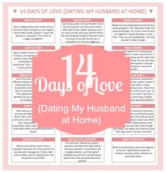 14 Days of Love {Dating My Husband at Home} - you don't need to go out to have fun! I'm sharing 14 easy and inexpensive at-home date ideas that my husband and I will be enjoying in February. {The Love Nerds} #imdatingmyhusband #valentinesday #dateideas