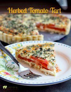 Herbed Tomato Tart | EricasRecipes.com