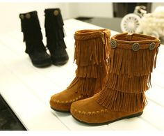 (28.81$)  Watch here - http://ai6av.worlditems.win/all/product.php?id=32730979528 - 2016 New Genuine Leather Children Fringe Boots Winter Fall Shoes Outdoor Fashion kidsThickening of the Non-slip girls Boots