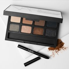 OPPOSITES ATTRACT: Shimmer and matte shadows play nicely in a single palette. #NARS #Sephora