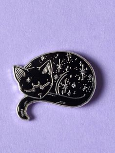 Pin Gothic Brooch Killstar Cat Planet Enamel Moon Chat Pin/'s Broche Gothique