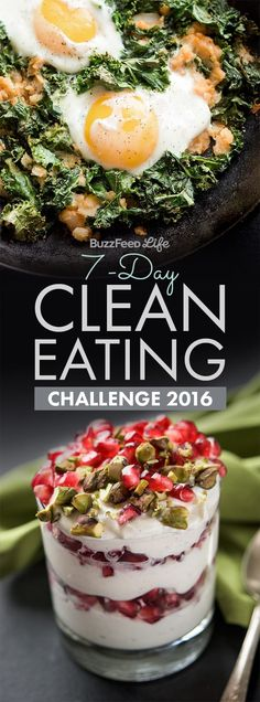This one-week clean eating challenge is a healthy eating boot camp that'll teach you how to cook awesome food all year long.(How To Make Recipes Healthy) Healthy Cooking, Healthy Snacks, Cooking Recipes, Healthy Recipes, Diet Recipes, Cooking Games, Top Recipes, Yummy Recipes, Vegetarian Recipes