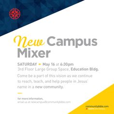 Want to be a part of our new campus? Mark your calendars for Saturday, May 16th!