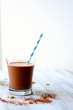 chocolate banana peanut butter smoothies