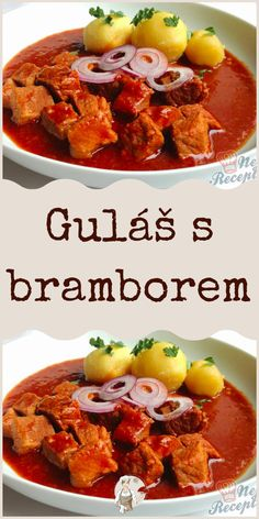 Guláš s bramborem Curry, Ethnic Recipes, Food, Curries, Meal, Eten, Meals