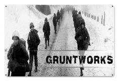 Gruntworks March Metal Wall Sign - Gruntworks11b