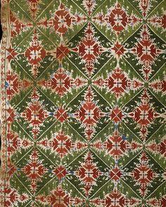 embroidered, 1700s, Greek; Sporades, Skyros Textile Fabrics, Textile Patterns, Embroidery Works, Embroidery Stitches, Greece Art, Greek Pattern, Greek Design, Embroidered Cushions, Vintage Textiles
