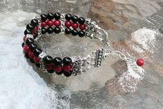 Genuine Black Onyx & Red Mountain Jade Antique by IslandGirl77, $35.99