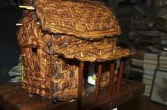 Gingerbread house? pffffft.... Behold the BACON CABIN!!