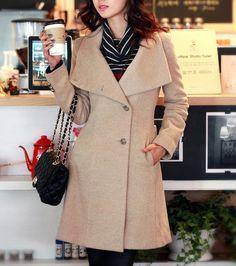Camel+Coat+Wool+Cape+Long+Trench+Coat+Wool+Jacket+by+dresstore2000,+$69.99