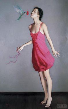 girl  painting by Li Guijun