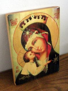 Holy Mother of God icon hand-painted of hot от Iconikonaikone2014