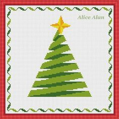 Cross Stitch Pattern Silhouette Christmas tree by HallStitch