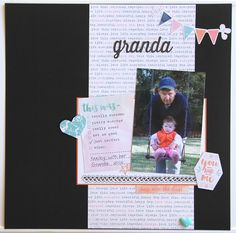 Hi :) I have another scrapbook page for Mystical Scrapbooks to share today. I decided to scrap a photo of my daughter with her Granda an. Happy Together, My Scrapbook, Scrapbooks, To My Daughter, Sweet, Pretty, Scrapbook, Scrapbook Albums, Scrapbooking