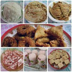 Today's Iftari Special  #idiyappam #parotta #jaloormurthaba   #samosas #agaragar #rosemilk #biscuitpudding