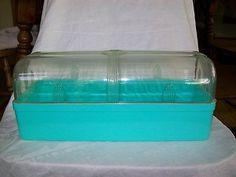 Turquoise Bread Box Vintage Plastic Bread Box Turquoise Bread Box Aqua Breadbox Slid Up
