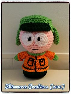 """Crochet Amigurumi """"South Park"""" Kyle Doll PDF Pattern by Shimmeree Creations on Ravelry"""