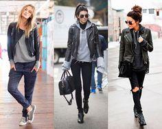 O moletom mescla cai bem com jaquetas de couro (Foto: Instagram)