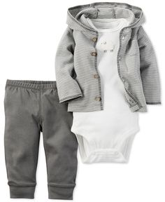 Carter's Baby Boys' 3-Pc. Little Lamb Hoodie, Bodysuit & Pants Set