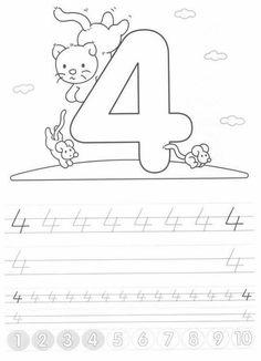 Writing numbers worksheets for preschool and kindergarten – Kids Art & Craf – Calligraphy Kindergarten Writing Activities, Kindergarten Gifts, Preschool Lessons, Alphabet Activities, Preschool Math, Teaching Kids, Kids Learning, Numbers Preschool, Math Work