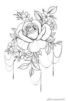 Tattoo Rose Flower Tattoo Plan verfügbar Sofort Do Compass Tattoo, Arm Tattoo, Body Art Tattoos, Tattoo Moon, Thigh Tattoos, Bird Tattoos, Feather Tattoos, Small Tattoos, Tattoo Henna