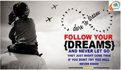 Dare to Dream! Follow your dreams & never let go they just might come true if you don't try you will never know. #NGOSofia #GirlChild #Justice