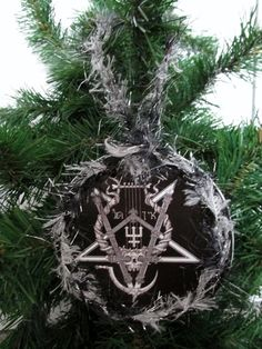 watain christmas ornament black metal upcycled cd booklet 3 by jinglehell on etsy - Death Metal Christmas