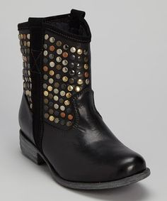 Another great find on #zulily! Black Stud Demi Leather Boot by Eric Michael by Laurevan #zulilyfinds