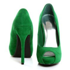 Shoespie Trendy Greenery Peep Toe Platform Heels