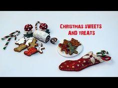 Christmas Sweets, Christmas Minis, Christmas Crafts, Christmas Clay, Christmas Cookies, Miniature Crafts, Miniature Christmas, Miniature Tutorials, Miniature Food