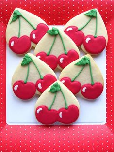 Find best ideas / inspiration for Valentine's day cookies. Get the best Heart shaped Sugar cookies for Valentine's day & royal icing decorating ideas here. Fruit Cookies, Cherry Cookies, Iced Sugar Cookies, Flower Cookies, Easter Cookies, Christmas Cookies, Macaroons Christmas, Summer Cookies, Fancy Cookies