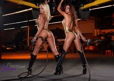 Sexy Hot Mechanic Cars Heather Shanholtz & Jacqueline Suzan Heather Shanholtz & Jacqueline Suzanne - AdavenAutoModified