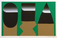 元永定正 《さんかくしかくながいまる》 1981 Graphic Illustration, Graphic Art, Illustrations, Graphic Design, Asian Design, Retro Futuristic, Origami Art, Dahl, Japanese Artists