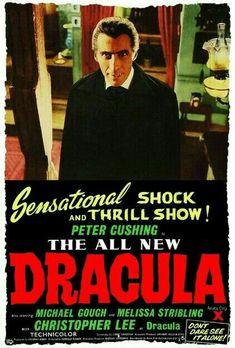 Horror of Dracula Hammer Movie, Hammer Horror Films, Hammer Films, Horror Movie Posters, Movie Poster Art, Horror Movies, Cult Movies, Sci Fi Horror, Horror Icons