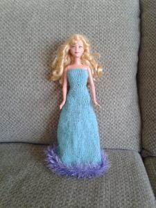 …because necessity is the mother of invention. Once again the internet did not contain any free patterns for Barbie princess dresses, so I made one up. It's copyrighted by me but I give…