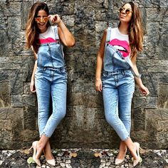 look the finds - macacão - jeans